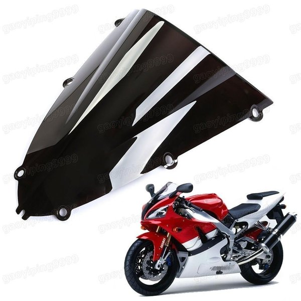 1 Pcs New Motorcycle Double Bubble Windscreen Fairing Windshield Lens ABS for Yamaha YZF-R1 1998-1999