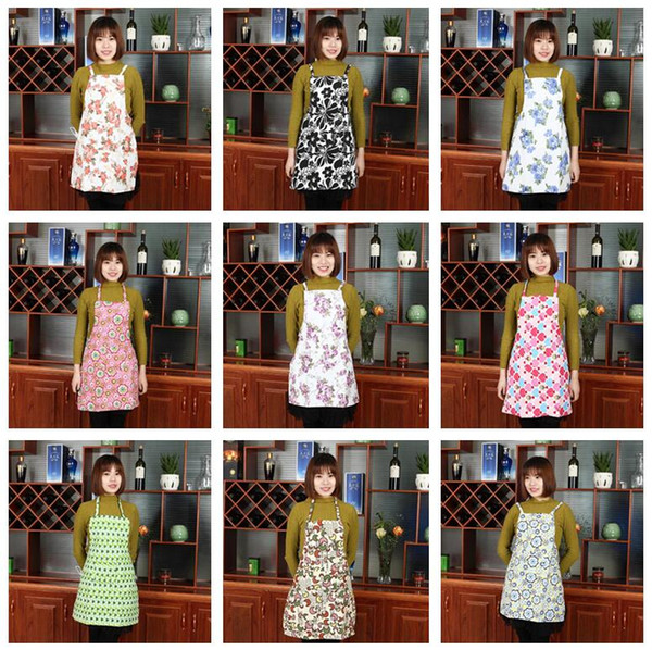 best selling Good A++ Custom fashion cute nail work around home kitchen waterproof put oil apron dressing cotton cloth A007 mix order as your needs