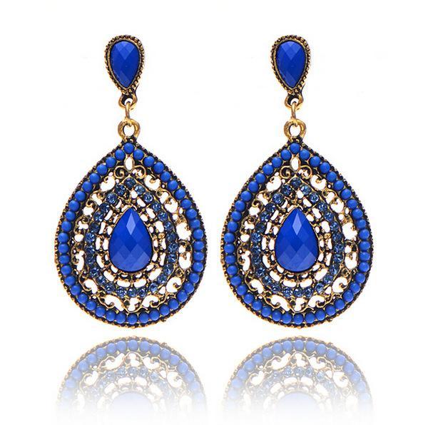 Großhandelsoberseiten-Weinlese-Bronze übertriebene Gold überzogene Ohrringe 10pcs Böhmen-Nd Ohrringe übertrieben gemischte Art der Frauen, die Eardrop Wedding sind