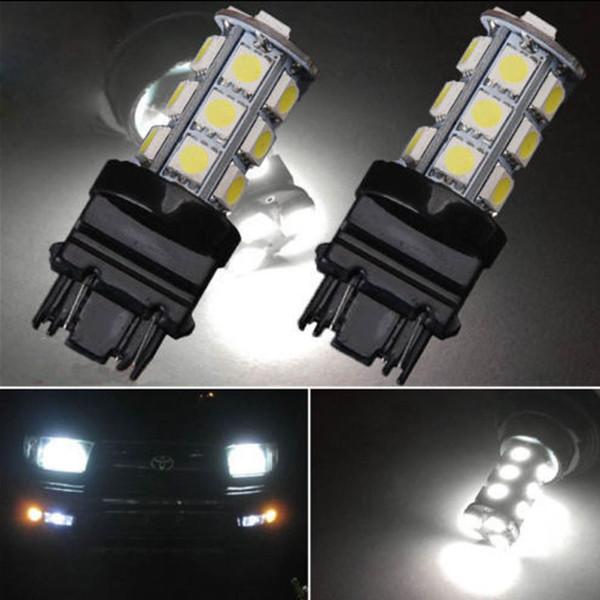 10Pcs LED Car Light Bulb 3157 18SMD 12V Cold White 6000K LED Bulb Brake Tail Parking DRL Daytime Running Light Universal LED Lamp