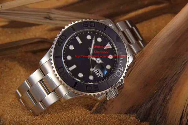 Sottomarino all'ingrosso di alta qualità lunetta in ceramica faccia nera cassa in argento vetro zaffiro orologio meccanico orologio meccanico ss braccialetto