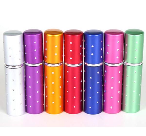 5ml Mini Portable Refillable Perfume Atomizer Colorful Spray Bottle Empty Perfume Bottles