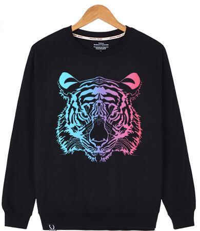 2017 High quality Sweatshirts For Men Women Shark Hoodie Coat embroidery tiger Paris Sweatshirt jacket