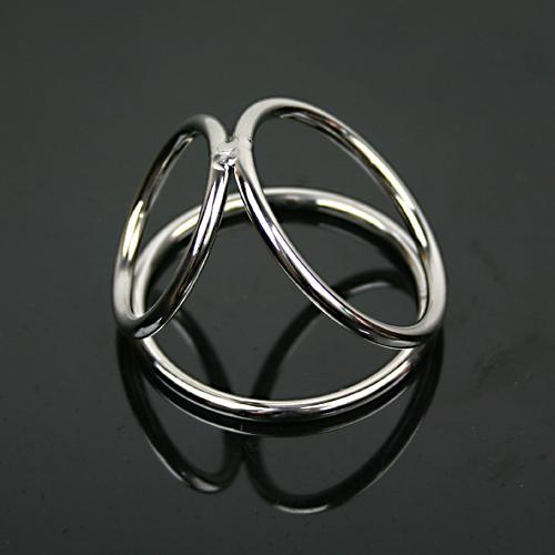 32*38*45mm small stainless steel penis ring three rings metal cock ring ball stretcher sex products for men penis sex ring