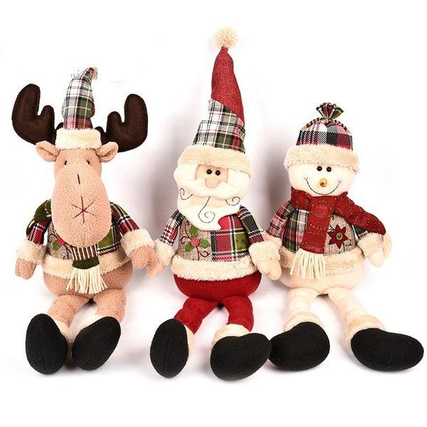 20.4Inch(52cm) Kawaii Brinqu Xmas Plush dolls toys Santa Claus snowman deer Plush toys Christmas Decoration Christmas toys best Gifts b1470