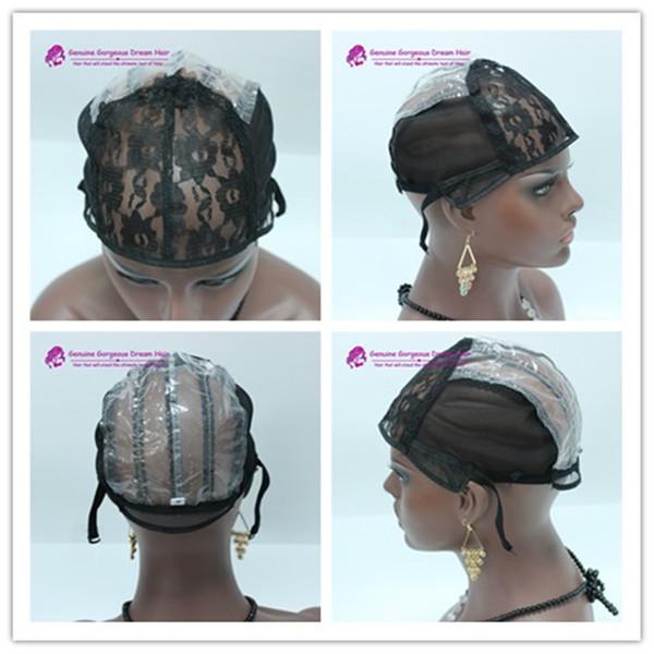 Bonnets de perruques pour la fabrication de perruques uniquement de bonneterie extensible bonnet de tissage bretelles réglables au dos garantie de haute qualité bonnet de tissage