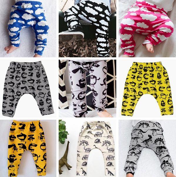 best selling 2017 New ins xmas cotton deer moose harem pant baby dragon pp pants boys cloud pants kids leggings fashion girls tights newborn trouser