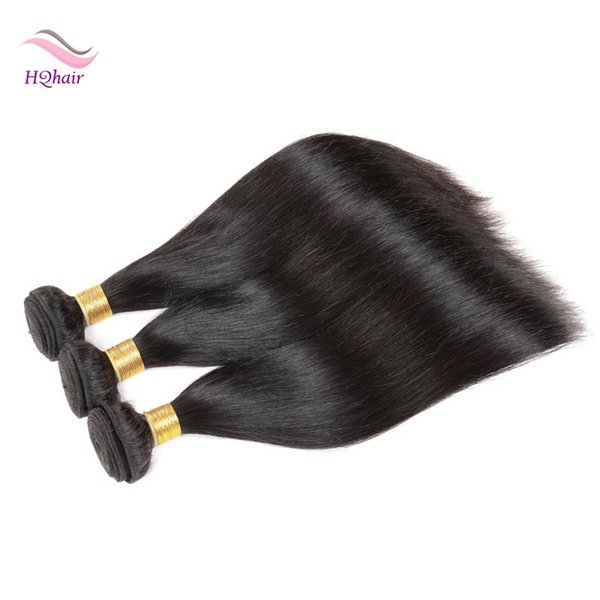 Unprocessed Virgin Malaysian Human Hair Wefts Straight Remy Hair Weave 3Pcs Indian Peruvian Brazilian Mongolian Hair Extension Natural Color