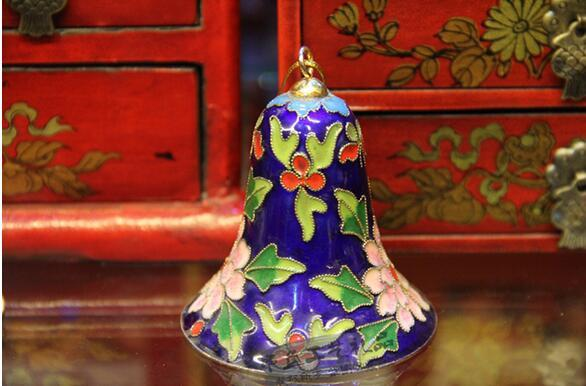 Beijing Cloisonne Wind Chimes Bell Wire Enamel Cloisonne Antique Crafts Traditional Style