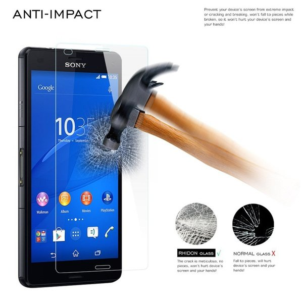 2.5D Anti-explosion Proof Tempered Glass For Sony Xperia T2 Ultra T3 Z Ultra M2 M4 M5 E3 E4 E4G Z5 Screen Protector Film