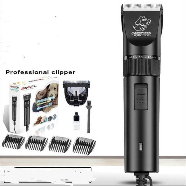 professional plug in electric pet hair clipper ceramic blade dog cat rabbit fur cutting tool precision trimmer 4 size comb scissor