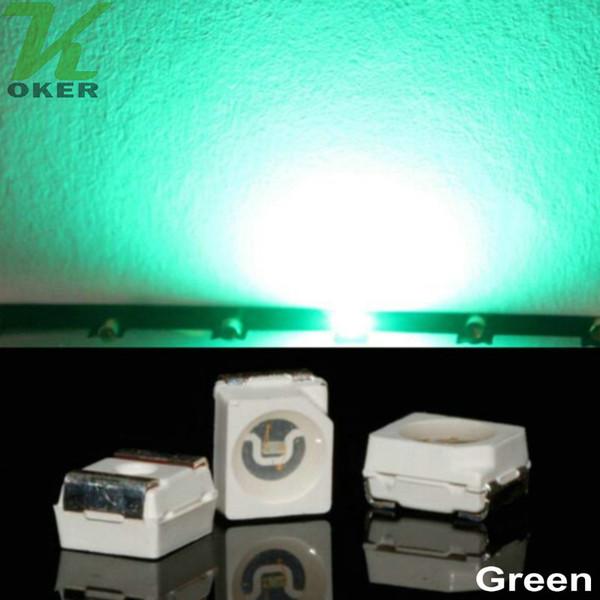 10000pcs/reel Jade Green PLCC-2 SMD 3528 (1210) LED Lamp Diodes Ultra Bright SMD3528 1210 SMD LED Free shipping