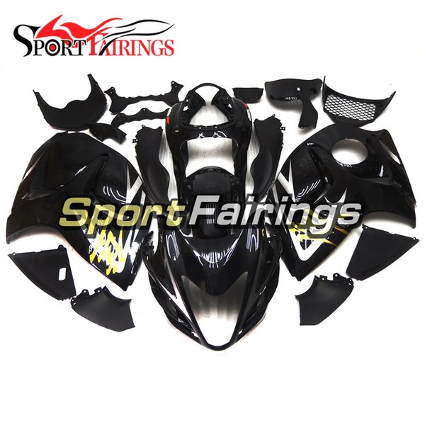 Carenados para Suzuki GSXR1300 Hayabusa Año 08-15 2008 2009 2010 2011 2012 2013 2014 2015ABS Kit de carenado de motocicleta Carrocería Gold Gloss Black