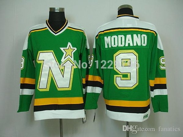 2017 mike modano minnesota north stars 1991 ccm vintage throwback jerseys dallas stars green white 9