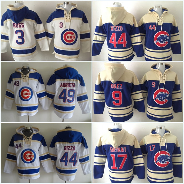huge selection of f36aa 01dff 2019 Mens Chicago Cubs Hockey Jersey 44 Anthony Rizzo 9 Javier Baez 12 Kyle  Schwarber 17 Kris Bryant Hoodies Jerseys Sweatshirts From Ornaments Shop,  ...