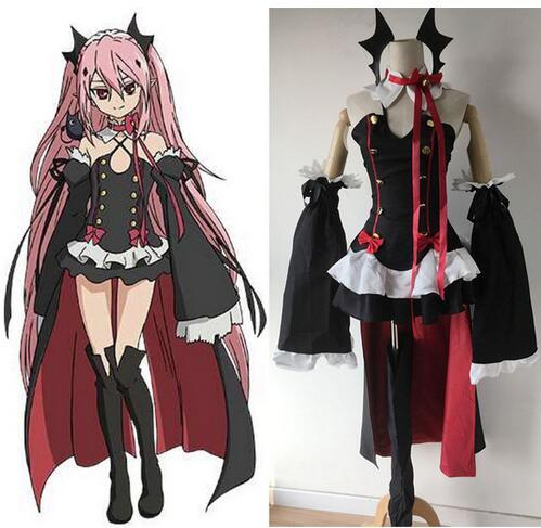 Anime Seraph De La Fin Owari No Seraph Krul Tepes Uniforme Cosplay Costume Ensemble Complet Dress Outfit Taille S-XL
