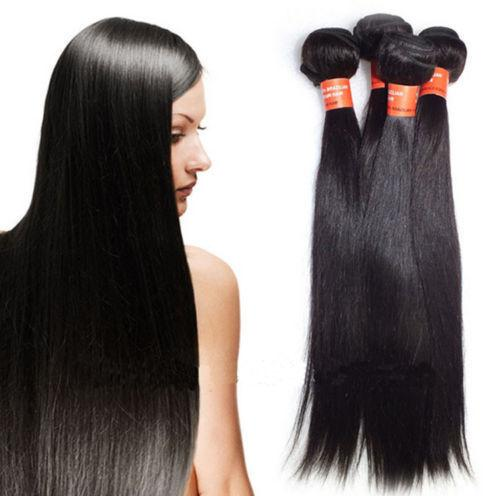 Grade 6A!!! brazilian Peruvian indian Malaysian Hair Extensions straight Double Weft No Shedding NO Tangle Durable 100g 4pcs/lot dhl free