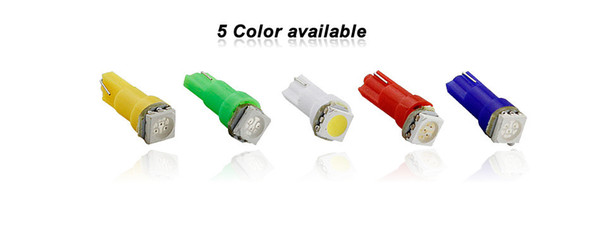 T5 Gauge 1 5050SMD LED White/Blue/Yellow/Green/Red Wedge Base for Dashboards 17 18 37 70 73 79 85 86 2721 bulb