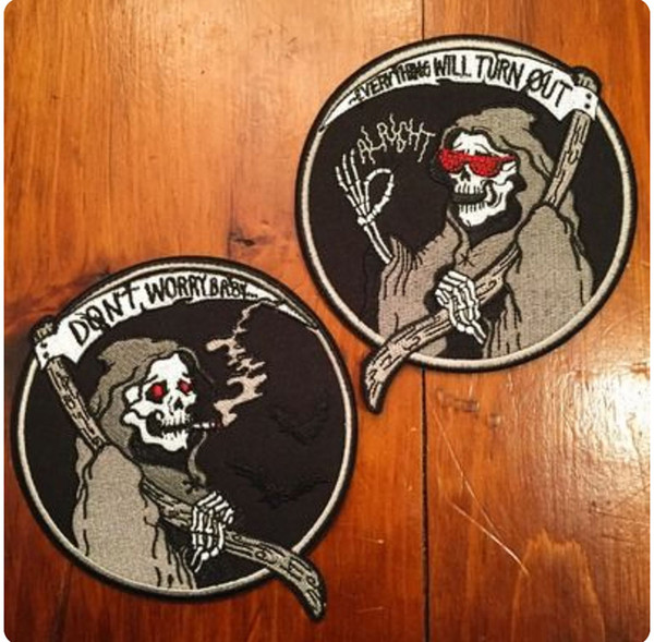 DOUBLE MAN AND WIFE SKELETON LOVE FUNNY Patch3.25Inch Iron on Patch Motorcycle Biker Club MC Back Jacket Vest Embroidered Patch Free Shippin