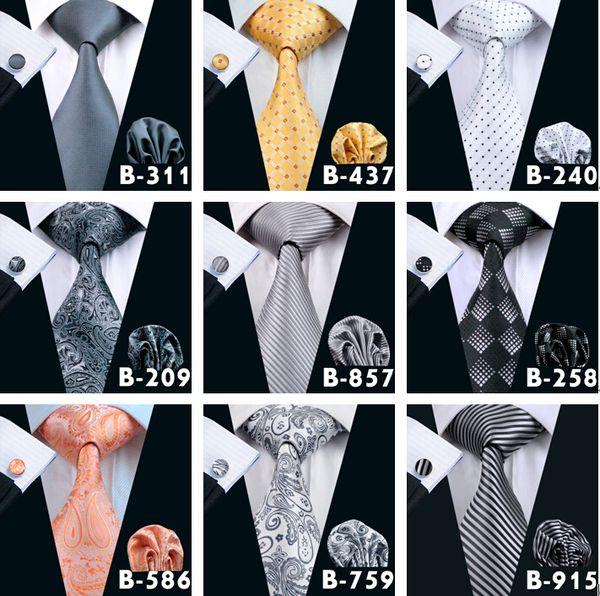 Top 400 Styles Hommes Cravates Costume D'affaires Costume Cravate Cravate Ensemble De Soie Paisley Rayures Solides Yam Dyed Golden Classic Cravates À Fleurs