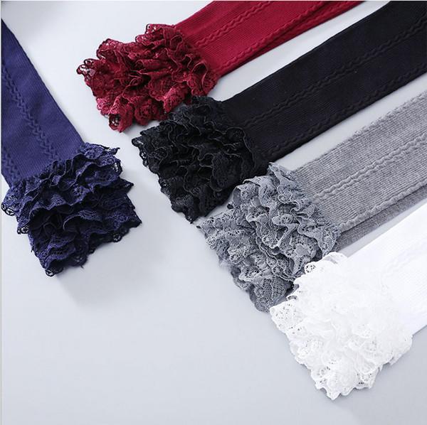 Wholesale High Quality Cute Cotton Children Kids Girl Leggings with Lace Spring Autumn 3pcs/lot Autumn