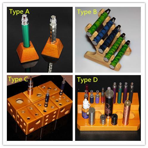 e cig дисплей полка деревянные стойки стойки стойки деревянный держатель для эго батареи атомайзер RDA механические моды mod e сигареты испаритель