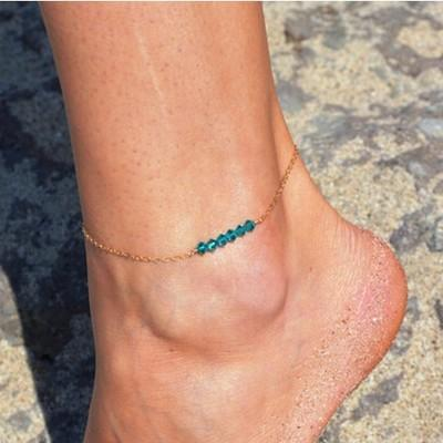 top popular Sexy Crystal Ankle Bracelets Beach Jewelry 2016 Newest 925 Sterling Silver Double Layers Anklets For Women Barefoot Sandals Wedding Jewelry 2019