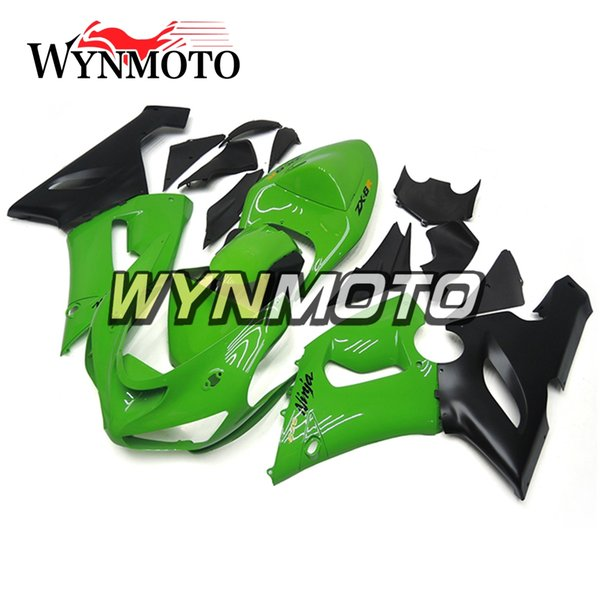 Frames New Fairings For Kawasaki ZX-6R 636 2005 2006 05 06 Injection ABS Plastics Hull Covers Motorbike ZX6R Green Black Sportbike Covers
