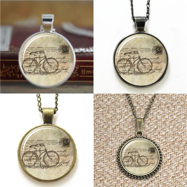 10 adet Bisiklet Hipster Vintage Stil Bisiklet Kolye Kolye anahtarlık imi kol düğmesi küpe bilezik