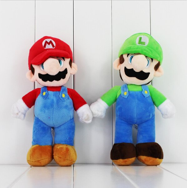 top popular Super Mario Stand LUIGI Mario Plush Soft stuffed doll for kid Best gift 10inch free shipping EMS 2019