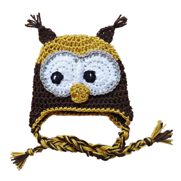 Adorable Owl Hat,Handmade Knit Crochet Baby Boy Girl Owl Hat,Infant Toddler Animal Hat,Halloween Outfits,Newborn Photo Prop Shower Gifts