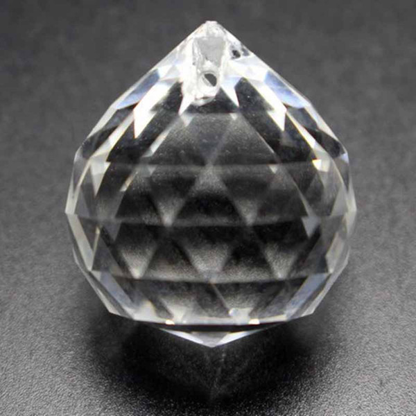 10pcs Clear 30mm Faceted Glass Crystal Suncatcher Ball Prism Chandelier Crystal Parts Hanging Chandelier Parts Home Decoration