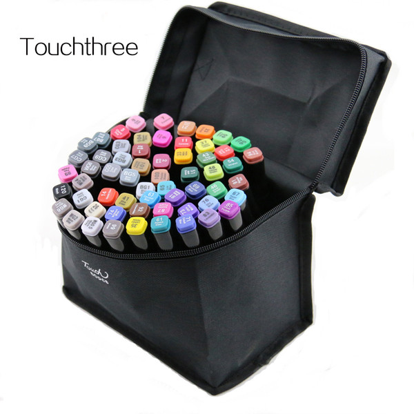 Touchthee 168 Colors Art Marker Set Alcohol Based brush pen liner Sketch Copic Markers touch twin Drawing manga art supplies