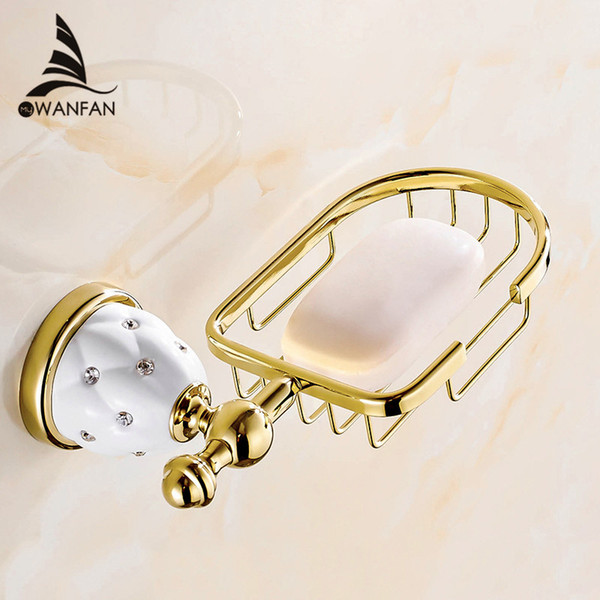 New Golden Finish Brass Flexible Soap Basket /Soap Dish/Soap Holder /Bathroom Accessories,Bathroom Furniture Toilet Vanity 5206