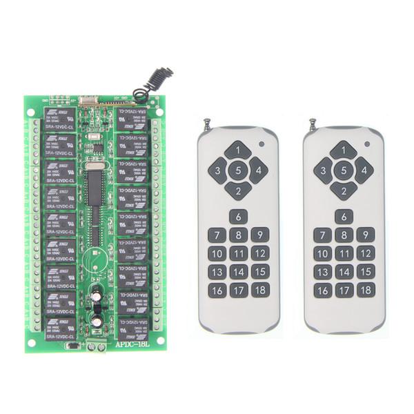 DC 12V 24V 18CH 18 CH Wireless Remote Control Light Motor Switch Relay Output Radio RF Transmitter Receiver,315 / 433 MHz