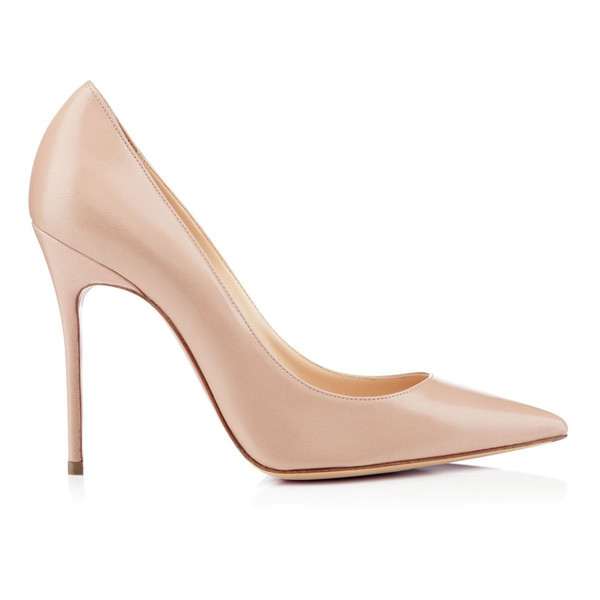 karmran Women Handmade Fashion E-colleted 100MM High Heels Suede Simple Office Party Pumps Shoes Nude Z62819