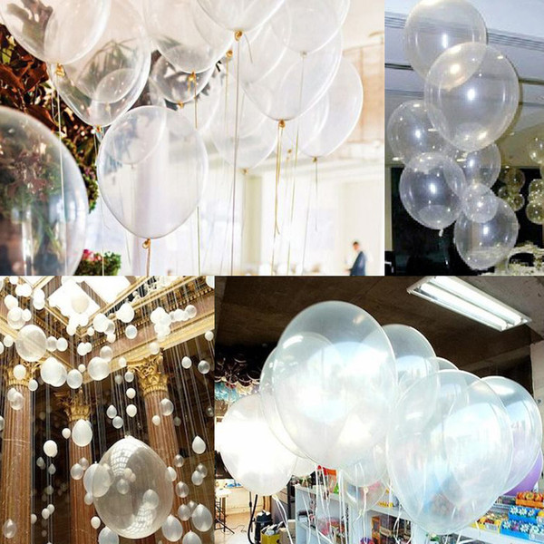 1bag Clear Latex Pearl Balloons Transparent Round Balloon Party Wedding Birthday Anniversary Decor 12 inch 1bag=100pcs new