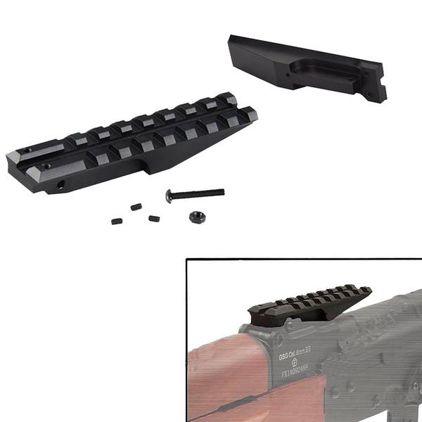 SINAIRSOFT Tactical 5KU hintere Schiene Mount Sight Schiene passend für AK-Serie Airsoft elektrische Pistole AEG Jagd Zielfernrohr montiert