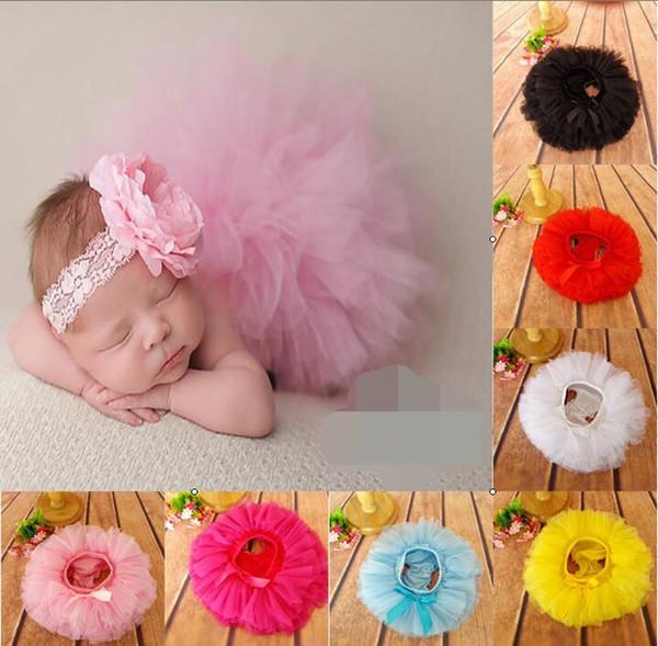 HOT SALE! 15% off!!!6pcs/Set (3pcs Baby Girls Tutu Skirt + 3pcs Headband )Infant bubble Dance ball Gown Ballet Skirt Newborn costume BN