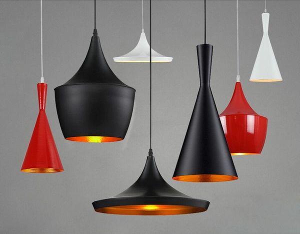 Tom Dixon Design Fixture Luminiare hanging Light E27 bulb Chandelier musical instrument restaurant Home ceiling LED Pendant lamp