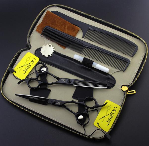 355 # One Set Suit 6.0 '' 17.5cm Marca Jason Tijeras de peluquería JP 440C Tijeras de corte Tijeras de adelgazamiento Tijeras de pelo humano profesional