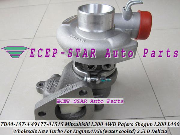 Water Cooled Turbo TD04 49177 01515 MR355220 MD195396 Turbocharger For  Mitsubishi L300 4WD Delicia Pajero Shogun L200 L400 4D56 2 5L Turbocharger
