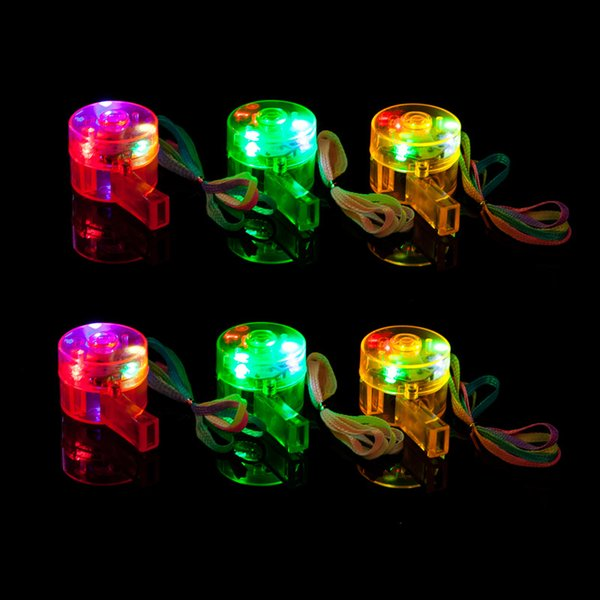 Light whistles, cheers, flashing whistles, bar parties, atmosphere supplies, luminous whistle lamps, toys wholesale