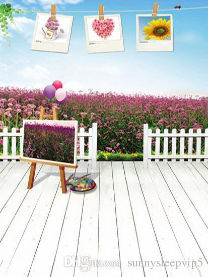 Outdoor Lavender Field 5x7ft Vinyl Backdrop for Photography Background Children Baby Newborn Photography Props