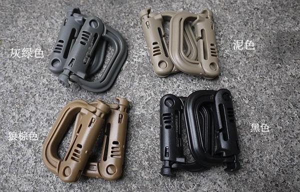 Plastik Karabinalar D-Ring Bahar Yapış Anahtarlık Klip Kanca Kilit Açık Tırmanma Taktik Sırt Çantası Kilitleme Toka ITW NLB