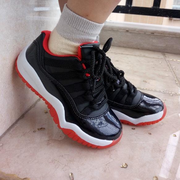 Discount Retro 11XI Low Bred Black Red Legend Blue Kid Basketball ... 17a540fb0