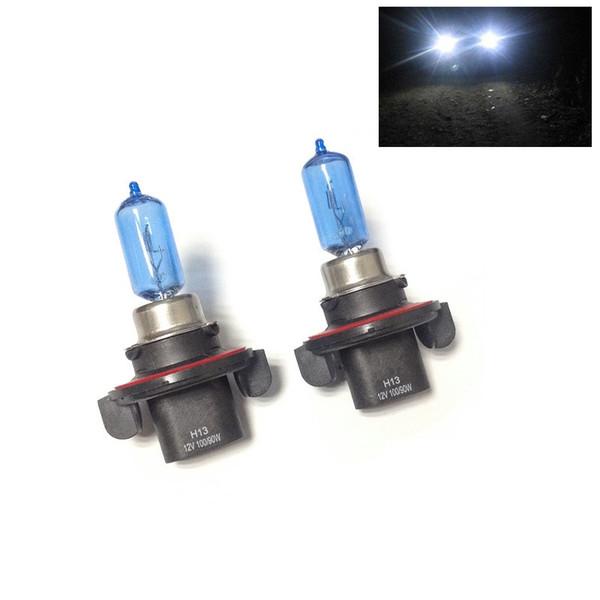 New 2pcs 12V 100/90W H13 Ultra-white Xenon HID Halogen Auto Car Headlights Bulbs Lamp Auto Parts Car Light Source Accessories