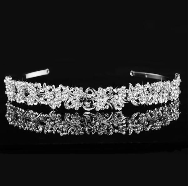 best selling Hot Selling Luxury Rhinestone Crystal Crown Tiara Bridal Hair Jewelry Wedding Party Hair Accessories Free Shipping