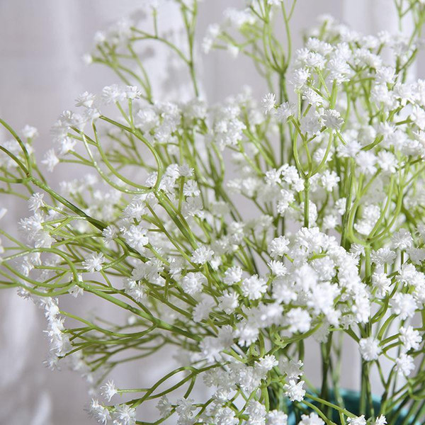 Discount pretty gypsophila babys breath artificial fake silk pretty 5pcslot gypsophila babys breath artificial fake silk flowers plant home wedding decoration mightylinksfo