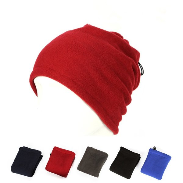 Cheapest Prices Polar Fleece Neck Warmer Snood Multi-function Scarf Hat  Unisex Thermal Ski Wear cap Snowboarding Bicycle 761771f4e92b